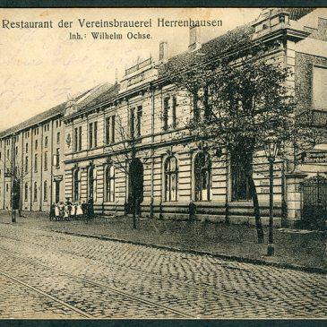 Historisches Bild der Herrenhäuser Brauerei (Wikimedia)