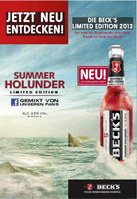 Becks Summer im Getränkemarkt Hannover Region in Sarstedt